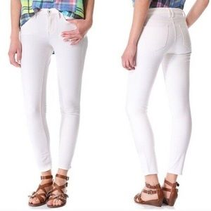 Madewell Skinny Skinny Ankle jeans white mid rise